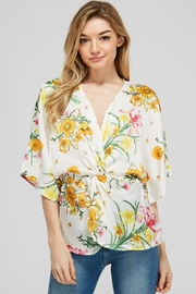 Idem Ditto  Floral Knot Blouse - Product Mini Image
