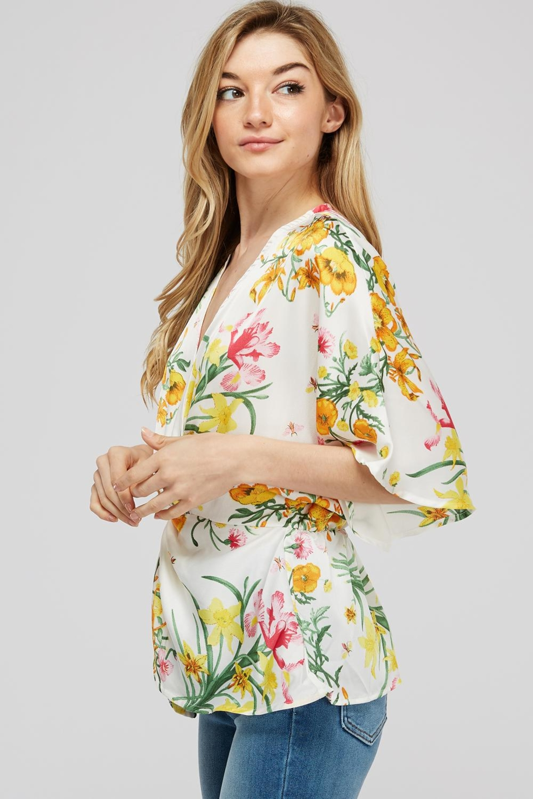 Idem Ditto  Floral Knot Blouse - Front Full Image