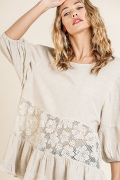 Umgee  Linen Lace Tunic - Product List Image
