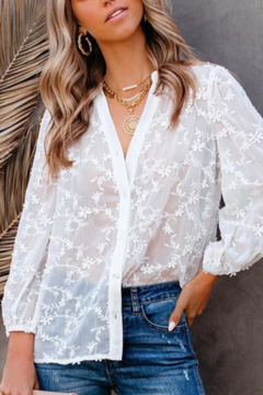 C+D+M Floral Lace Blouse - Alternate List Image