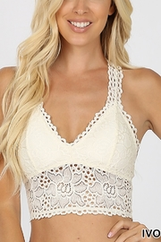 Lyn -Maree's Floral Lace Bralette - Front cropped