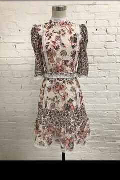 Just Me Floral Lace Dress - Product List Image