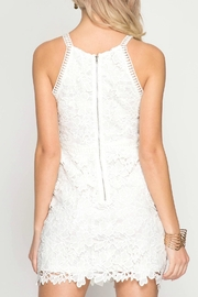 She + Sky Floral Lace Dress - Front full body