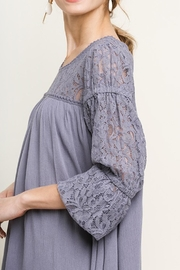 Umgee Floral Lace Dress - Product Mini Image