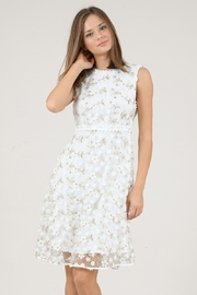 Molly Bracken Floral Lace Embellished Dress - Product Mini Image