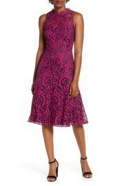 Eliza J Floral Lace Fit & Flare Dress - Front cropped