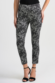 Joseph Ribkoff USA Inc. Floral Lace/Glen Plaid Pants - Product Mini Image