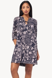 Lilla P Floral Lace Inset Dress - Product Mini Image