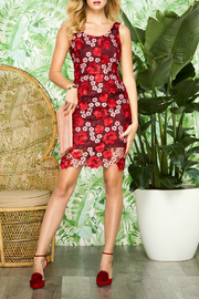 Forest Lily Floral Lace Lined Dress - Product Mini Image