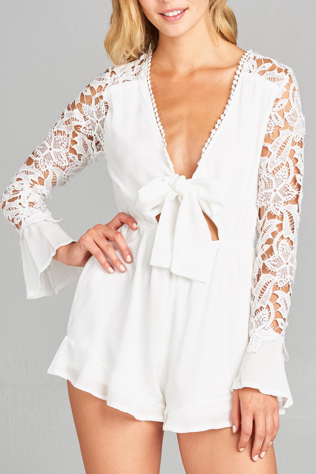9617c25a4f50 Racine Floral Lace Romper from California by Racine Love — Shoptiques
