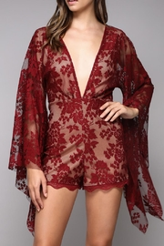 Do & Be Floral Lace Romper - Product Mini Image