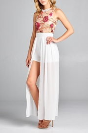 Racine Floral Lace Romper-Maxi - Front cropped