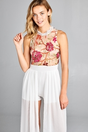 Racine Floral Lace Romper-Maxi - Front full body