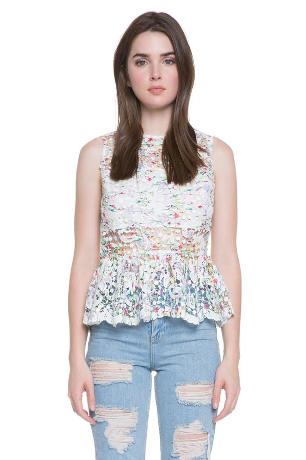 Endless Rose Floral Lace Top - Main Image