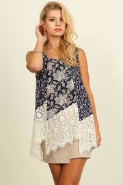 People Outfitter Floral Lace Top - Product Mini Image