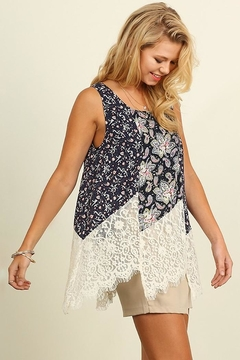 People Outfitter Floral Lace Top - Alternate List Image