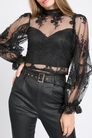 A Peach Floral Lace Top - Product Mini Image