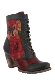 Spring Footwear Floral Lace-Up Bootie - Product Mini Image
