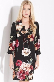 Karen Kane Floral Lace Up Dress - Product Mini Image