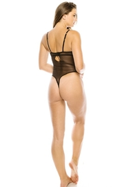Youmita Floral Lace-Velvet Front -Mesh Back Teddy - Other