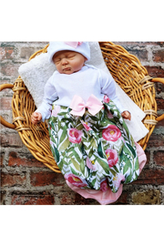 Maison A Floral Layette Gown w/ Beanie - Product Mini Image