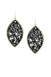 Lets Accessorize Floral Leather Earrings - Product Mini Image