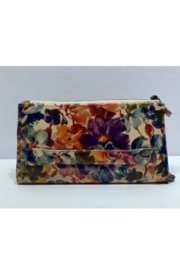 Silver Rose Floral Leather Wallet Clutch - Product Mini Image