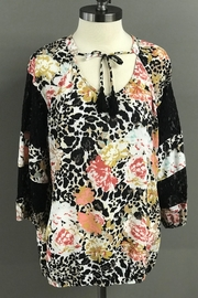 Multiples Floral, Leopard and Lace Blouse - Product Mini Image