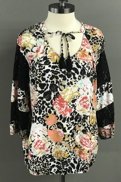 Multiples Floral, Leopard and Lace Blouse - Product List Image