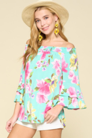 Emerald Floral Life Top - Product Mini Image