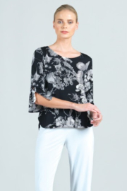 Clara Sunwoo Floral Light Grid Top with Cuff Tie - Product Mini Image