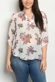 Lyn -Maree's Floral Light Top - Front cropped