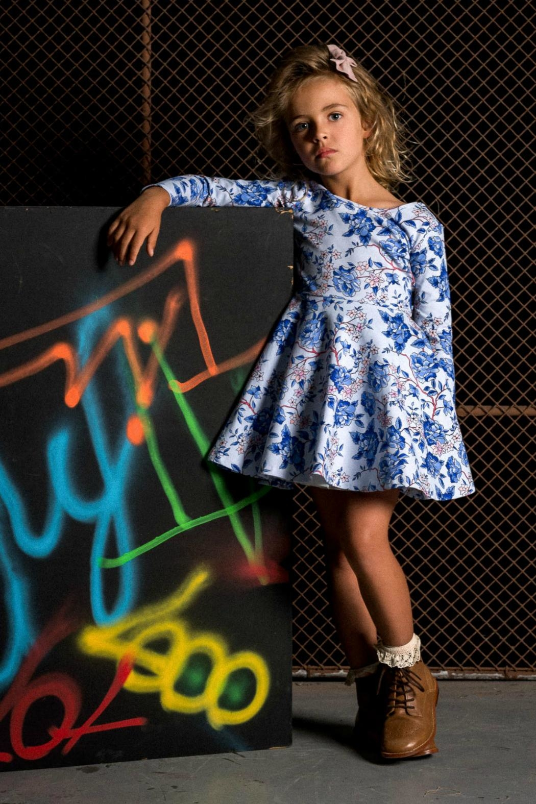 Rock Your Baby Floral Mabel Dress - Front Full Image