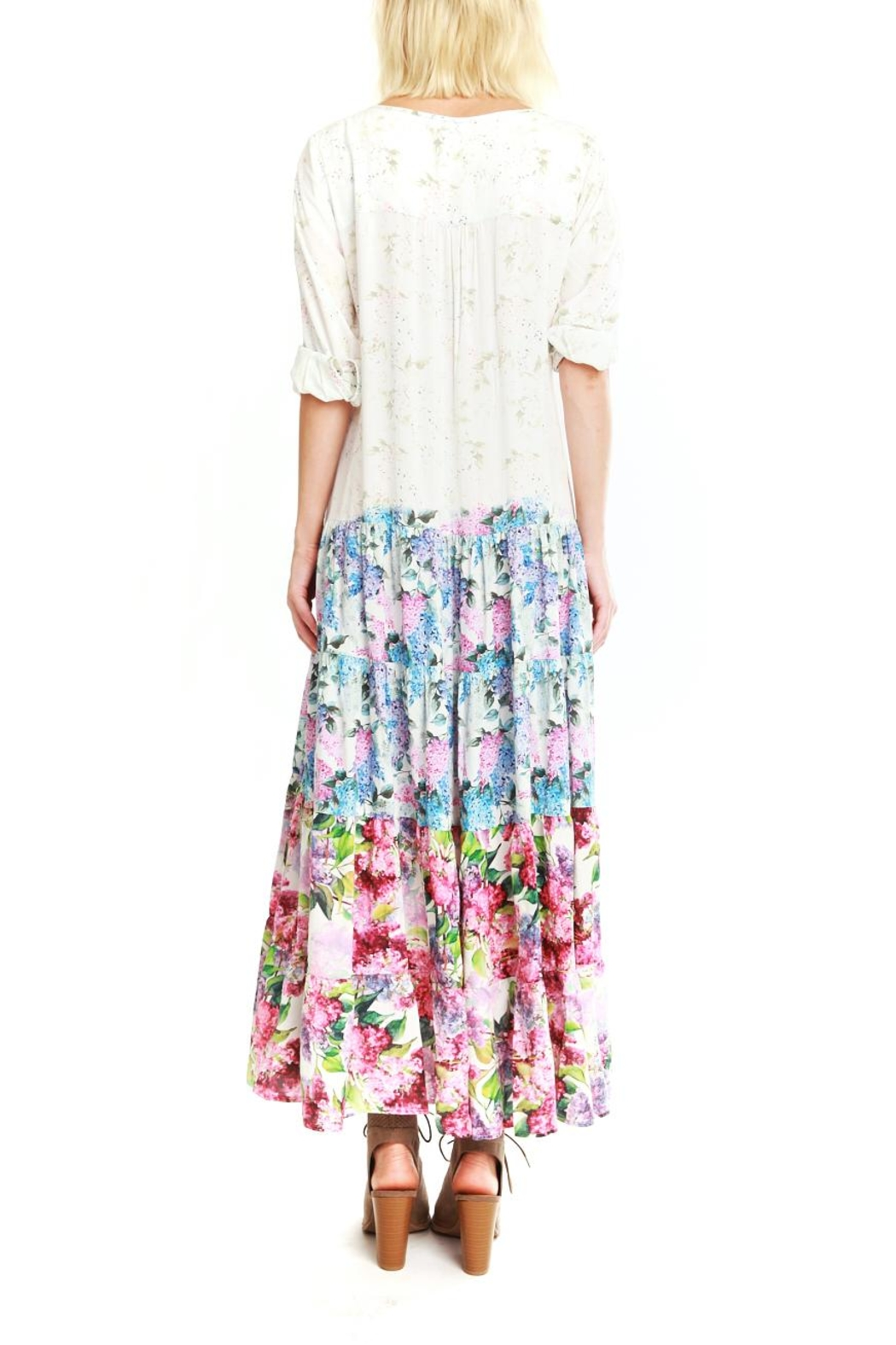 Aratta Floral Maxi Dress - Front Full Image