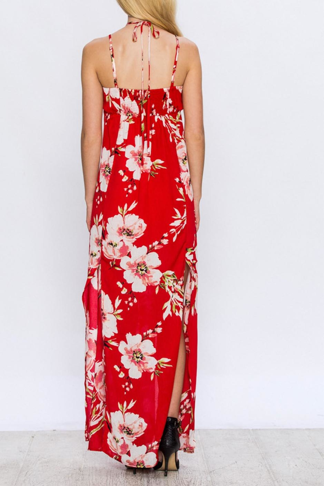 Jealous Tomato Floral Maxi Dress - Side Cropped Image