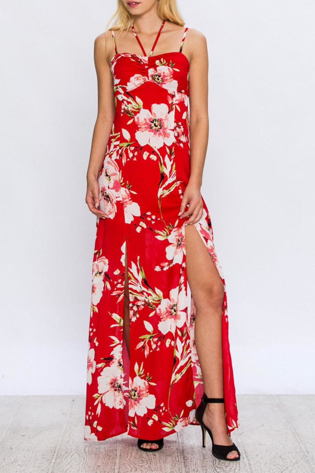 Jealous Tomato Floral Maxi Dress - Front Full Image