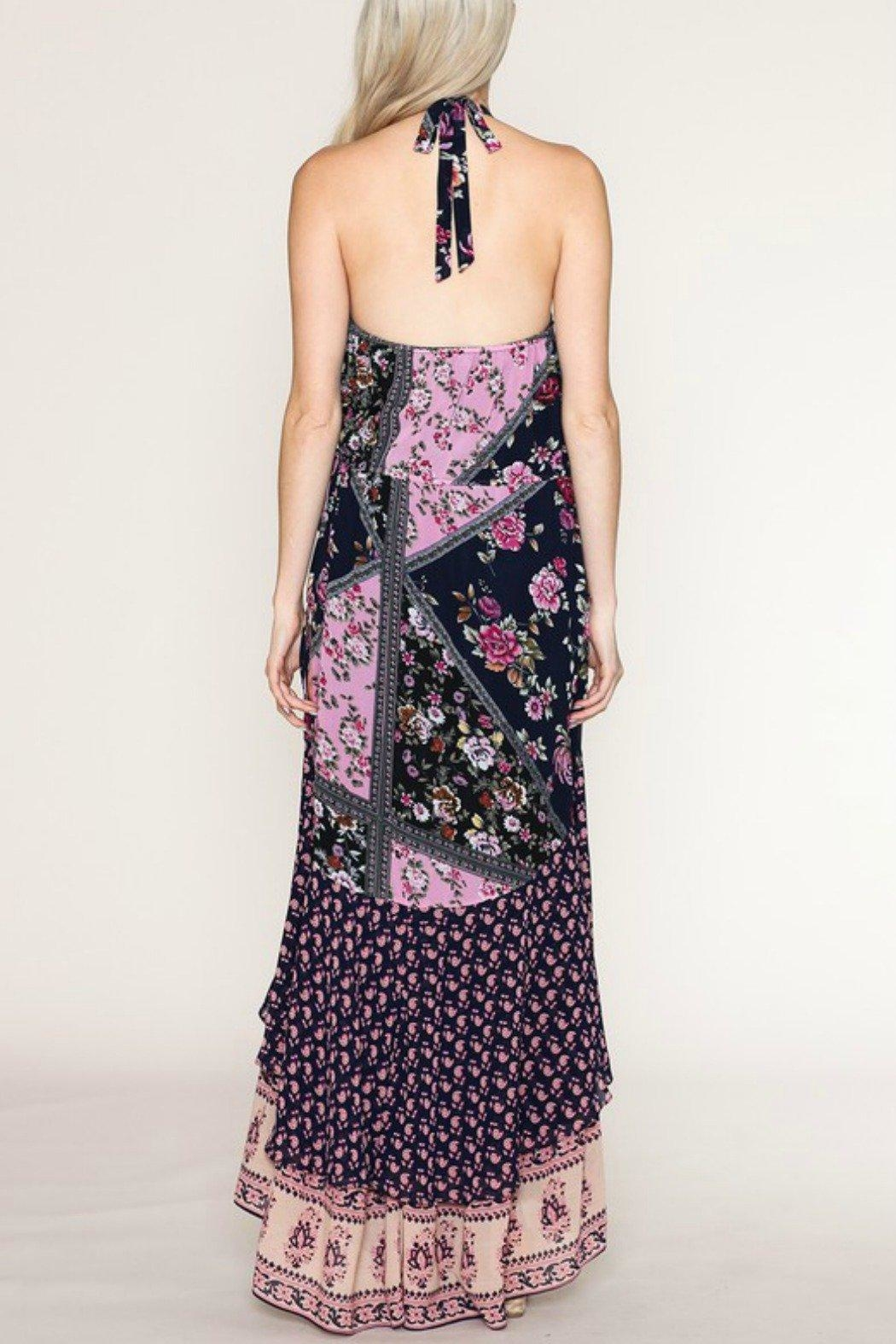 Listicle Floral Maxi Dress - Side Cropped Image