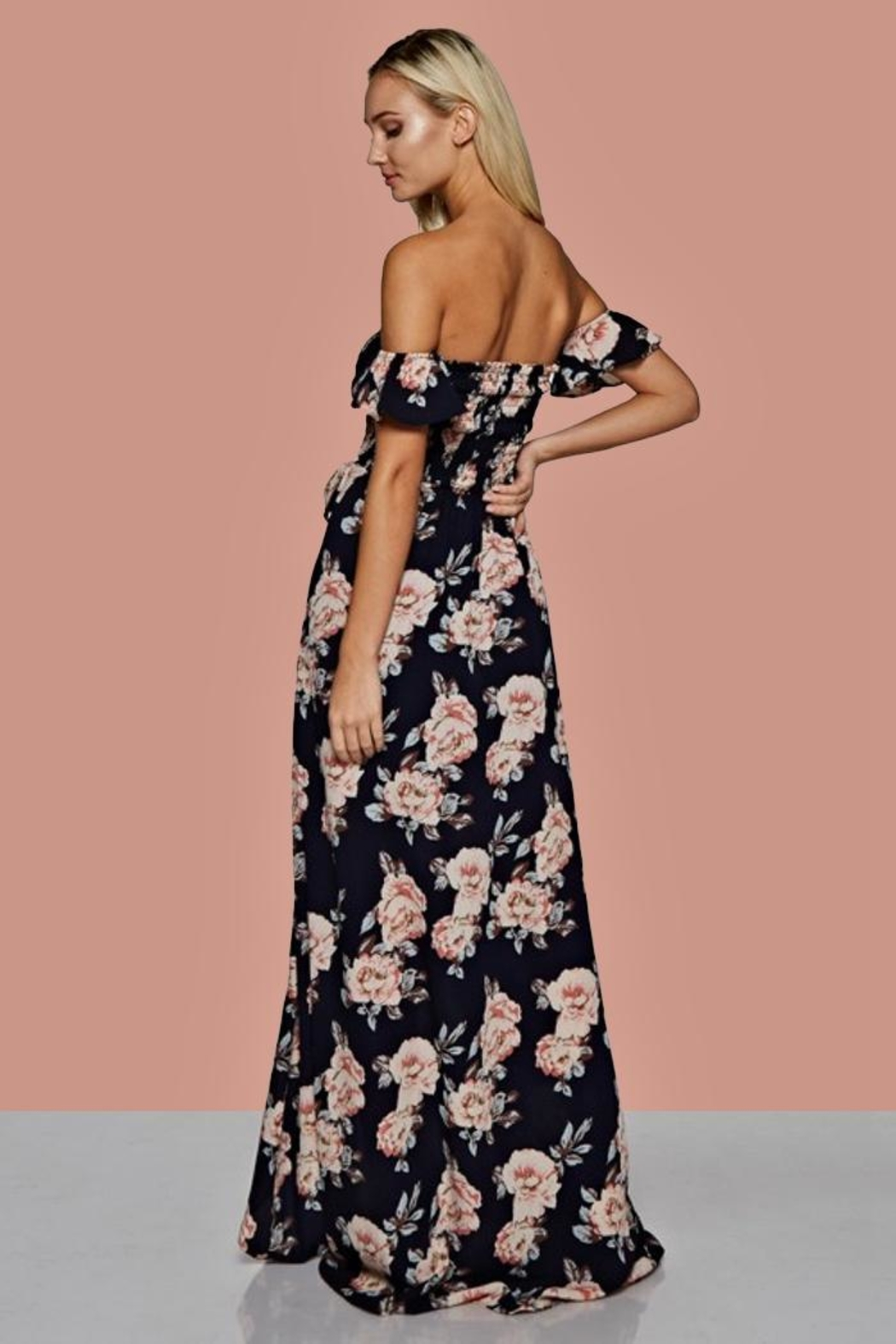 People Outfitter Floral Maxi Dress - Front Full Image