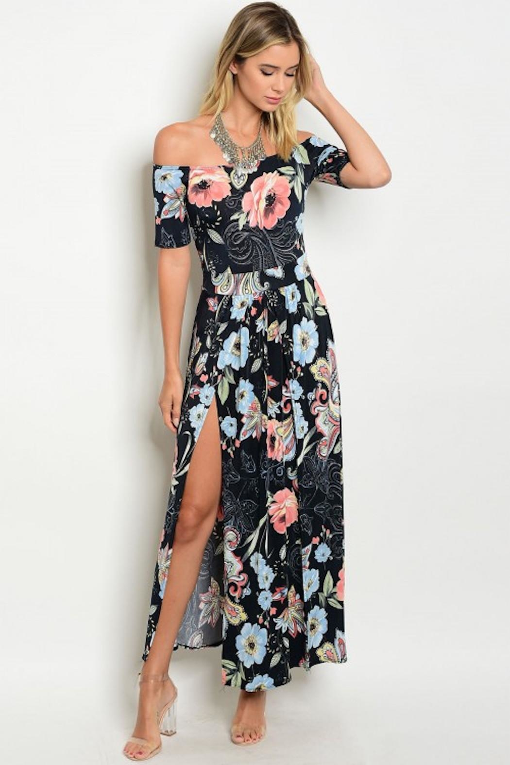 GIBIU Floral Maxi Dress - Front Cropped Image