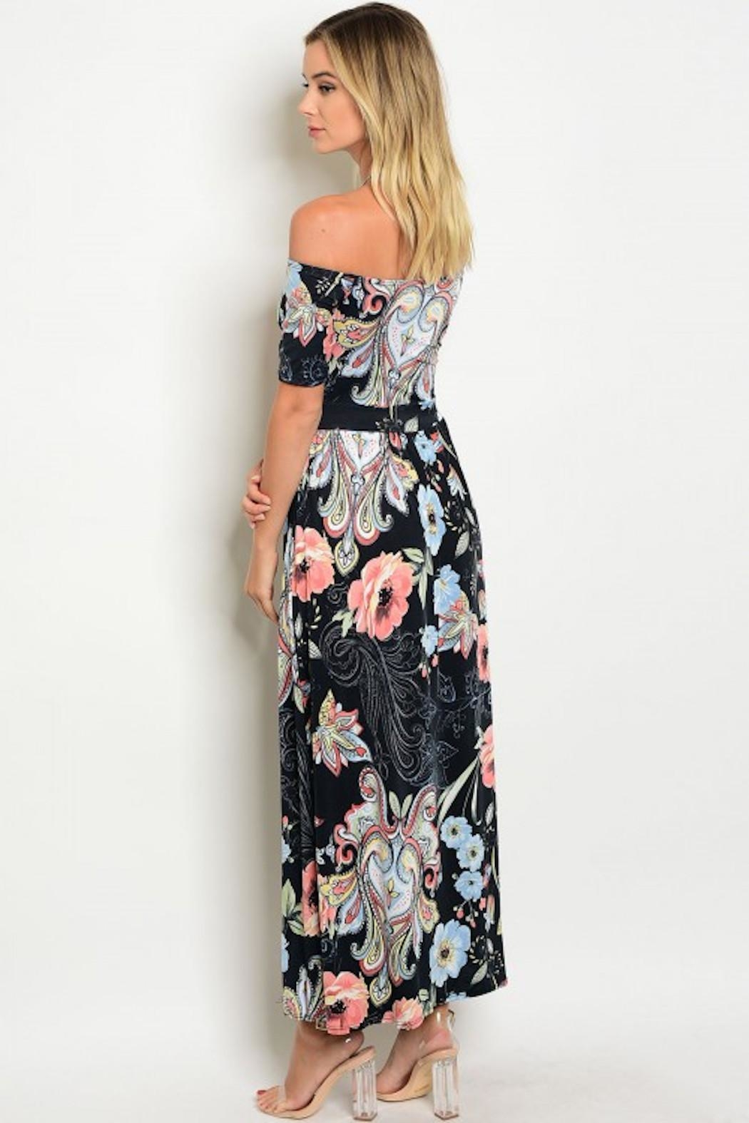 GIBIU Floral Maxi Dress - Front Full Image