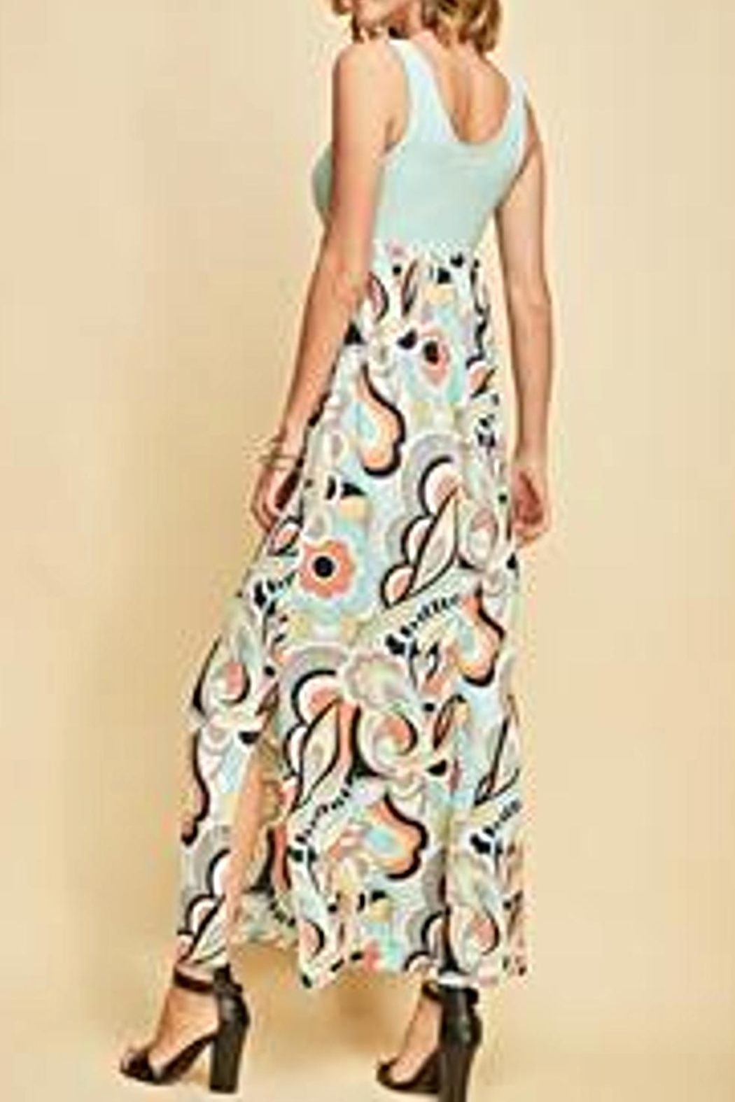 Entro Floral Maxi Dress - Side Cropped Image