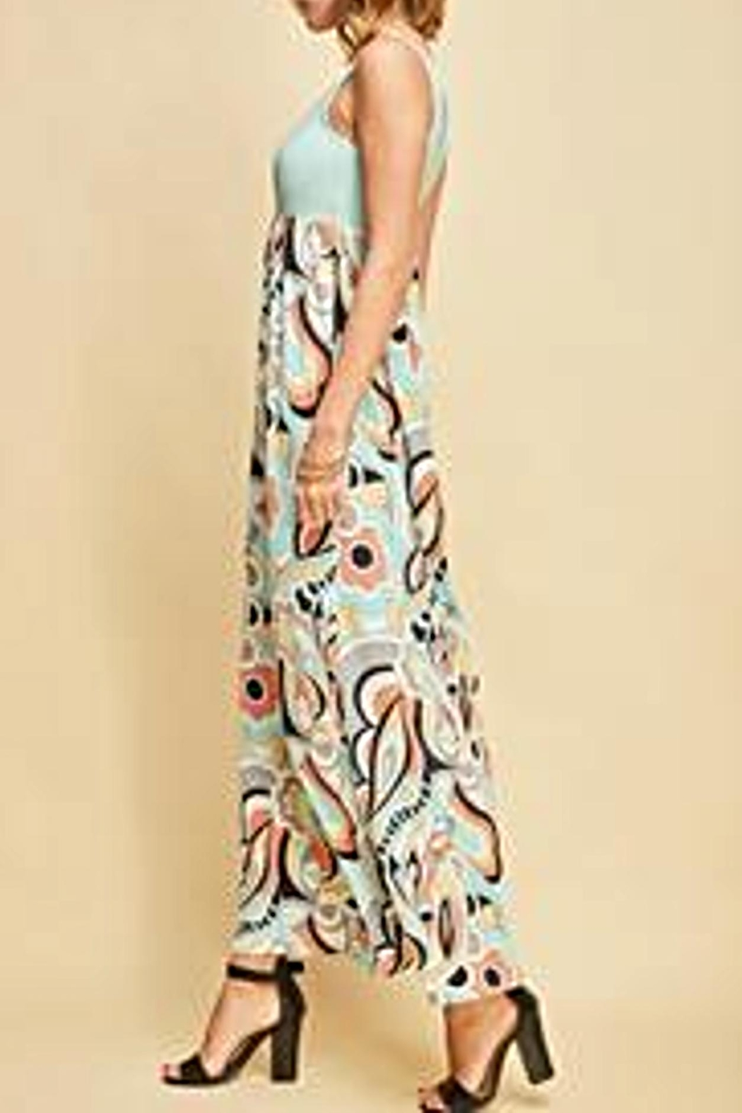 Entro Floral Maxi Dress - Front Full Image