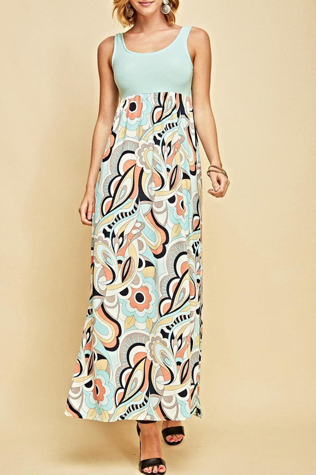 Entro Floral Maxi Dress - Front Cropped Image