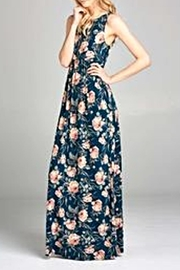 Emerald Floral Maxi Dress - Product Mini Image