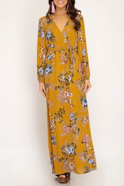 She + Sky Floral Maxi Dress - Product Mini Image