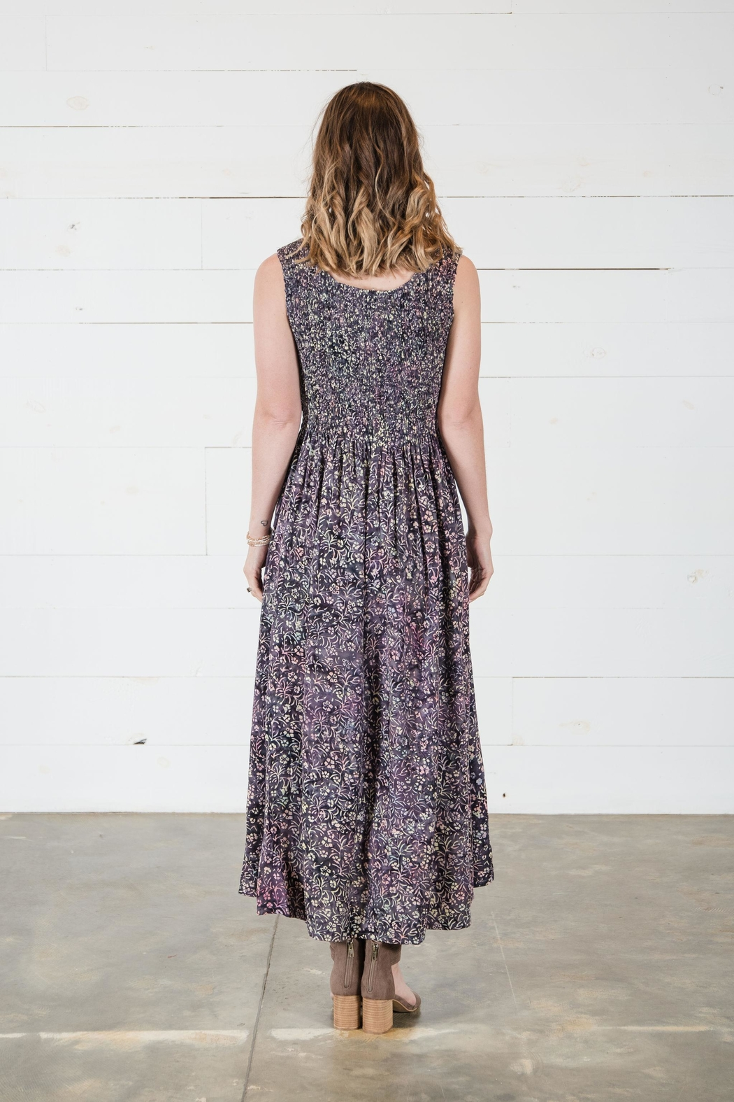 Go Fish Clothing Floral Maxi Dress - Side Cropped Image