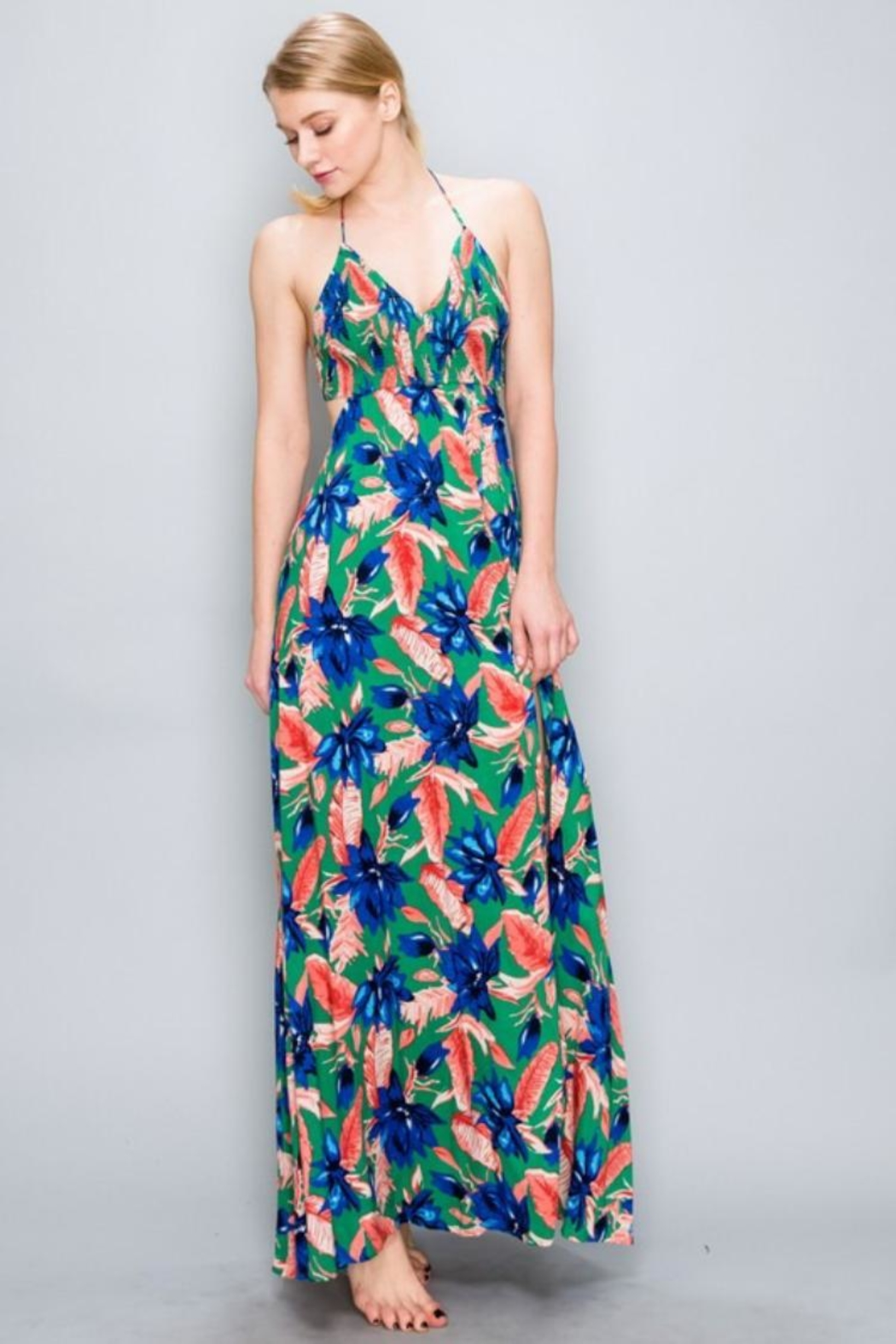 3205c901be88a AAKAA Floral Maxi Dress from Los Angeles by Chikas — Shoptiques