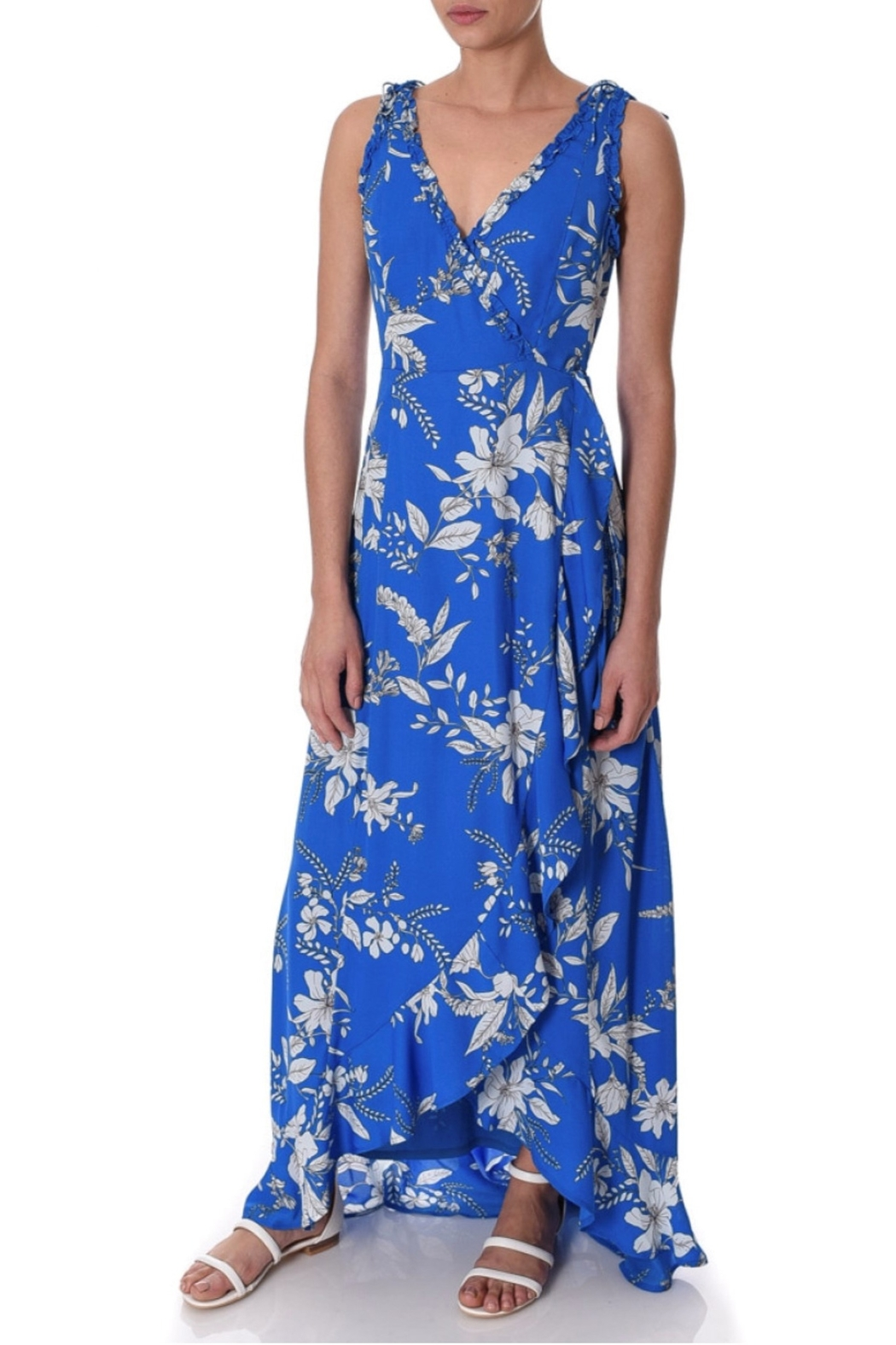 If By Sea Floral Maxi Dress - Main Image