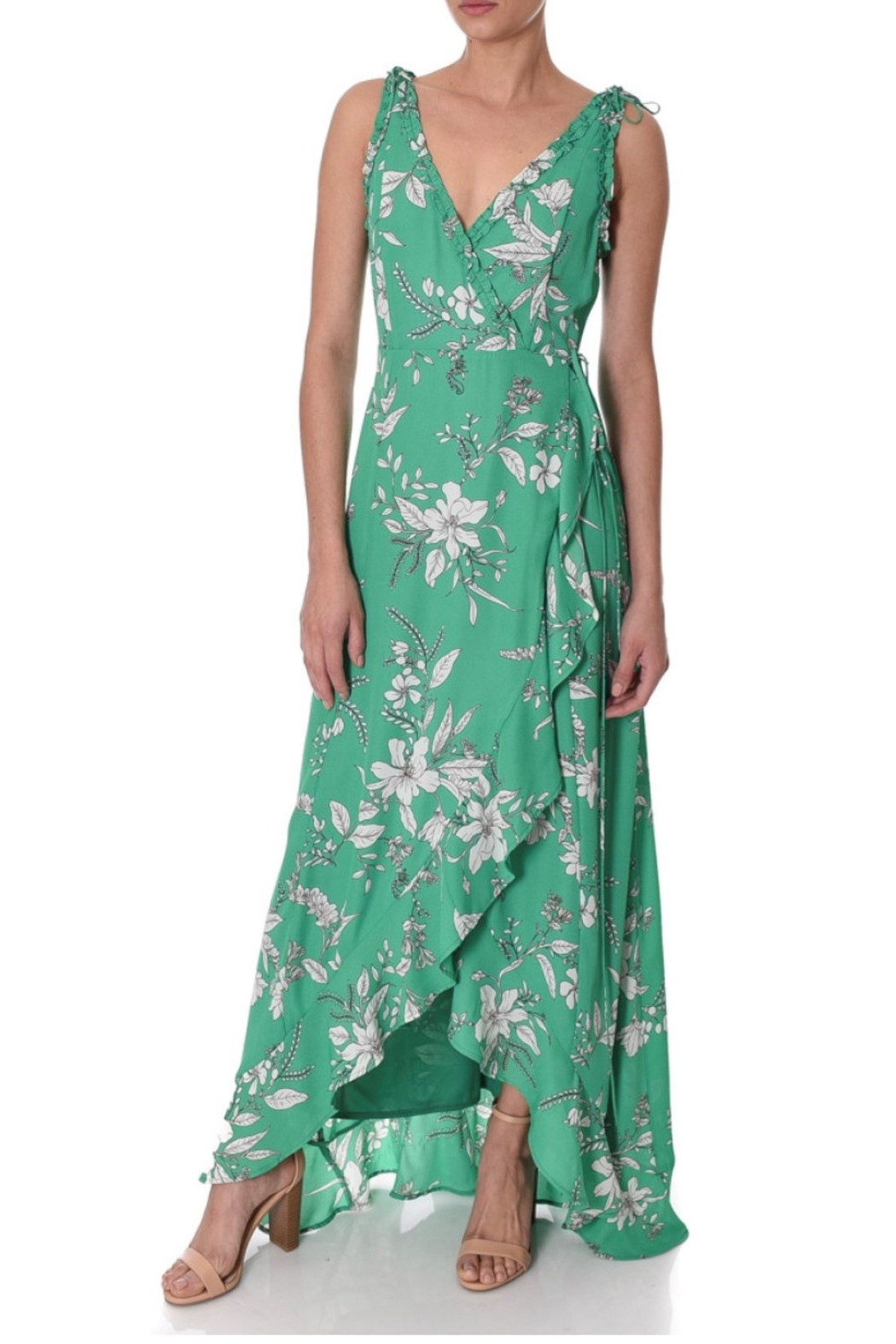 If By Sea Floral Maxi Dress - Front Cropped Image