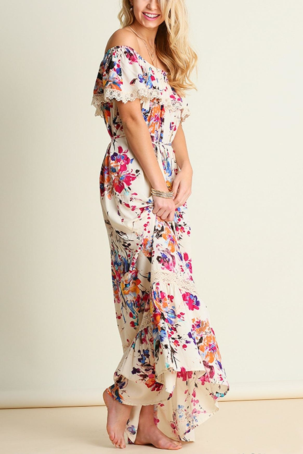 Umgee USA Floral Maxi Dress - Front Full Image